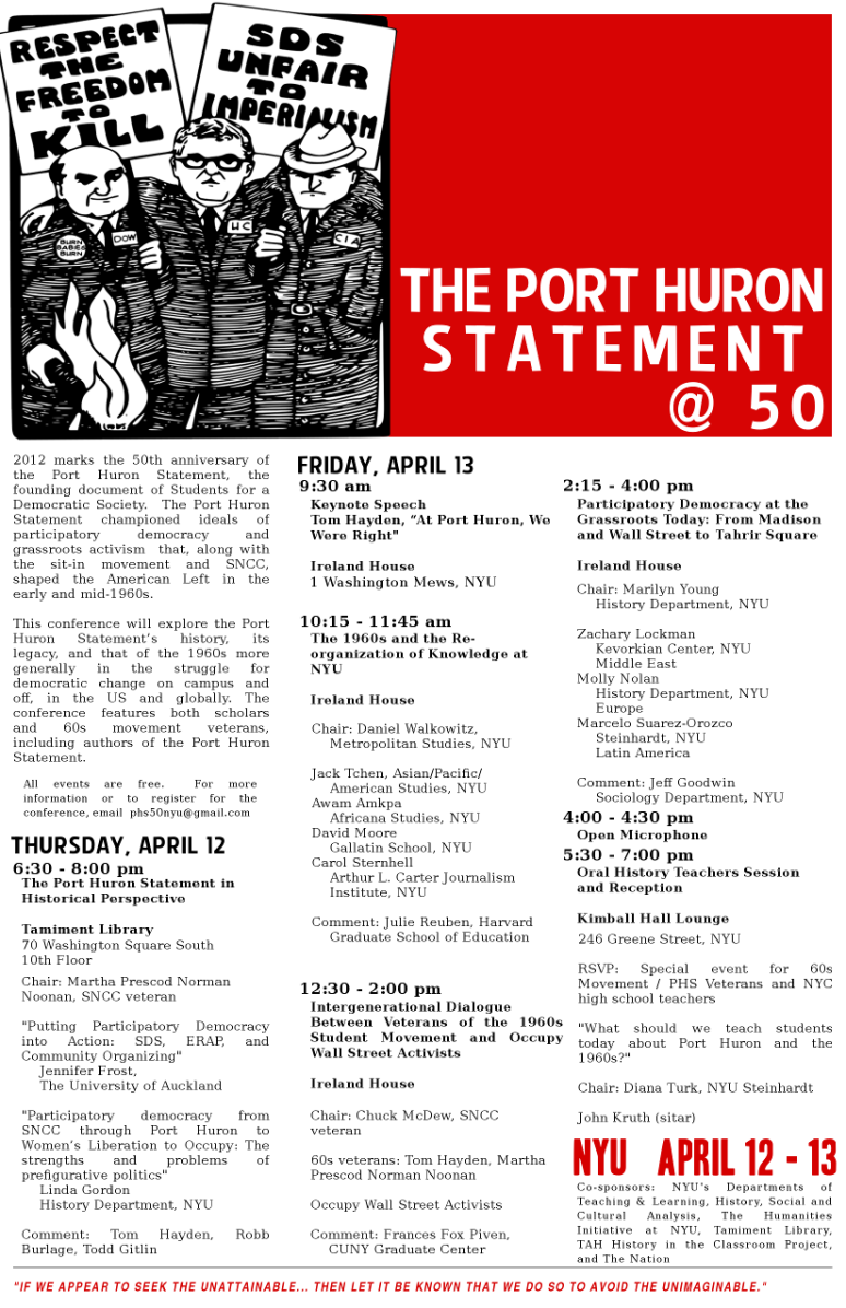 Port Huron Project Poster, 2012